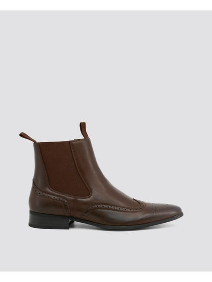 Brown Rudolph Ankle Boots