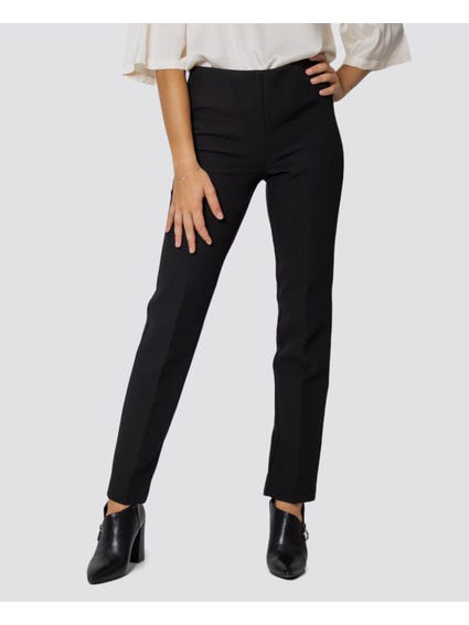 Black Solid Color Pants