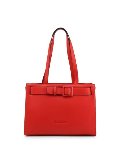 Red Angelo Belt Front Shoulder Bag
