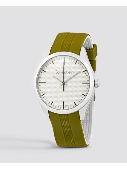 Color White Dial Silicone Watch