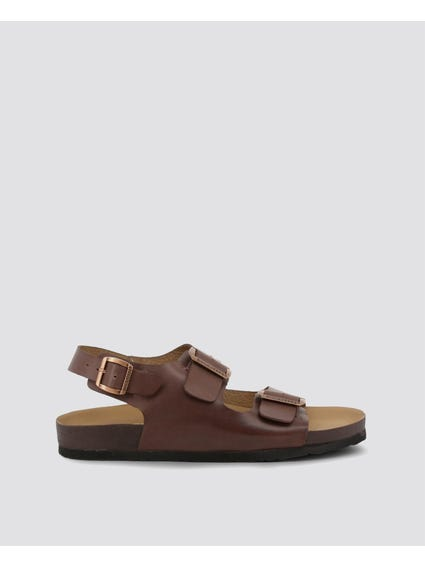 Brown Vega Buckles Sandals