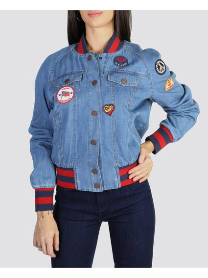 Denim Pocket Bomber Jacket