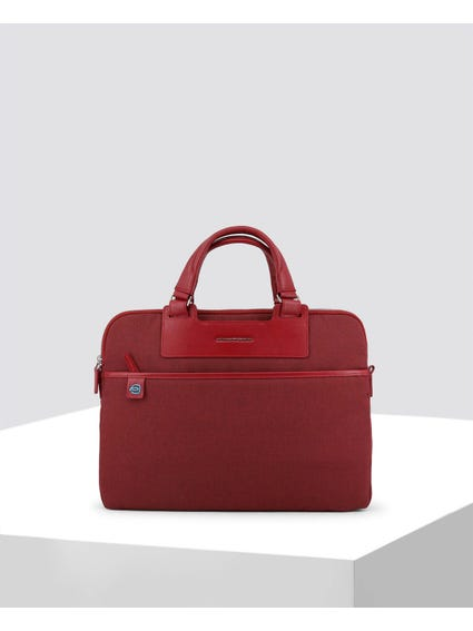 Red Two Compartments Briefcase