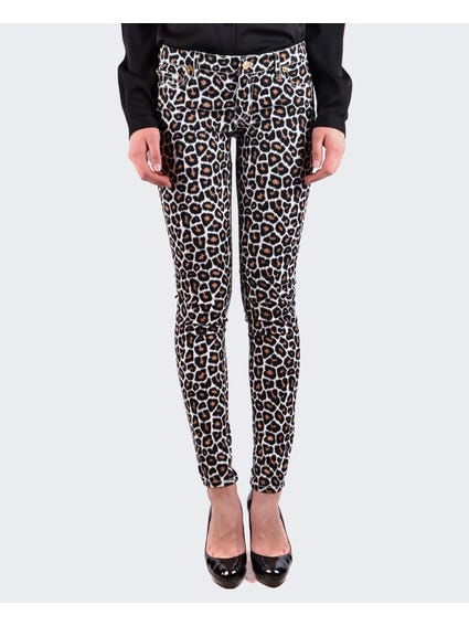 Animal Printed Jeans