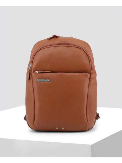 Brown Vintage Look Backpack