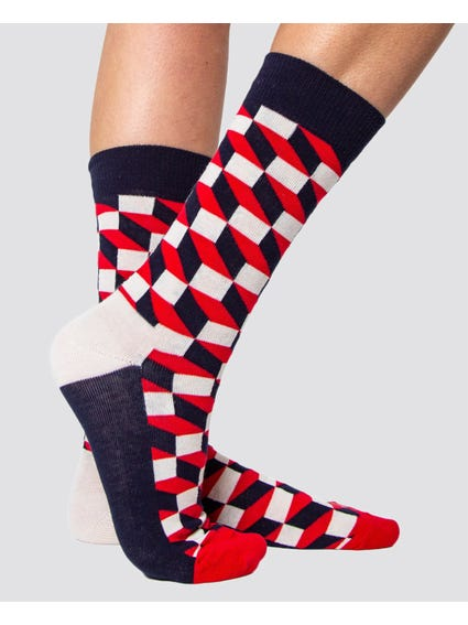 3 Packs Printed Mid Cut Socks
