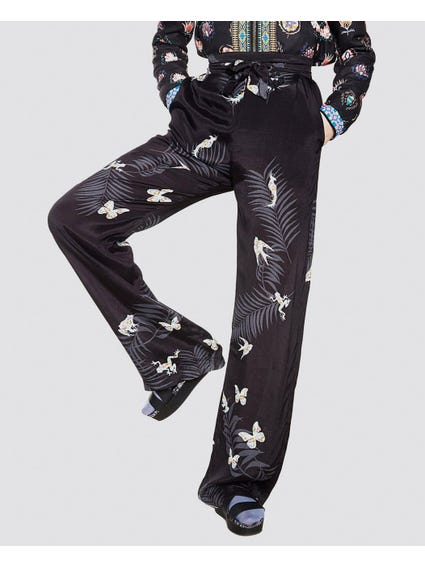 Nature Print Belted Trouser
