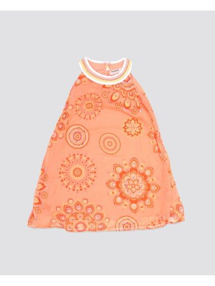 Orange Free Town Kids Dress