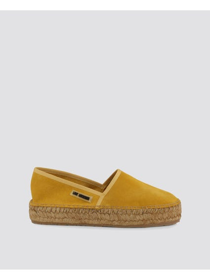 Yellow Comfy Slip Ons