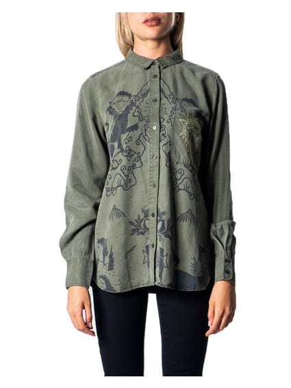 Collar Graphic Long Sleeve Shirt
