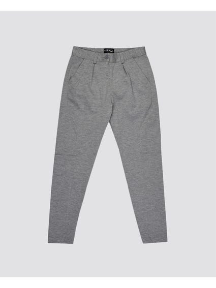 Grey Knees Stitched Trouser