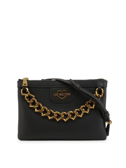 Black Chain Strap Clutch Bag