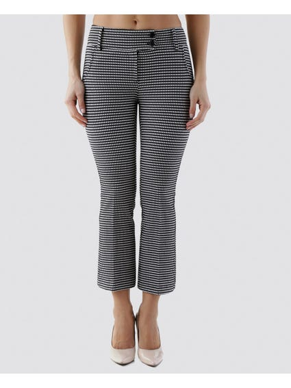 Monochrome Double Button Trouser