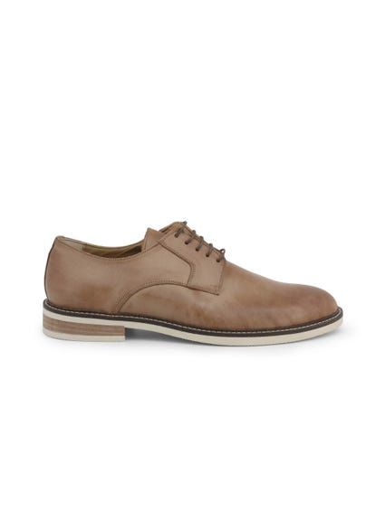 Leather Effect Sole Lace Up Shoes