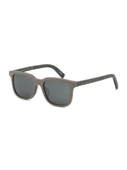 Black Green Hinge Arms Sunglasses