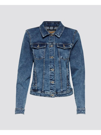 Blue Casual Denim Jacket