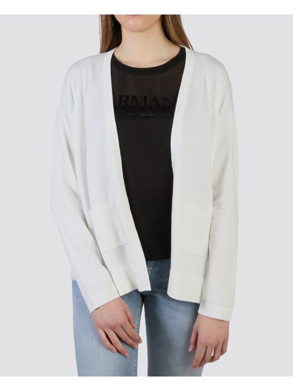 White Open Front Front Cardigan
