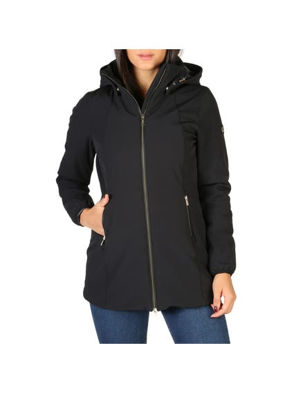 Black Full Zip Removable Hood Jacket
