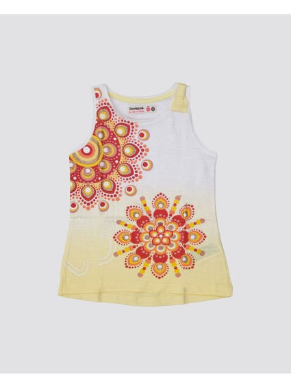 Yellow Sunshine Sleeveless Kids Top