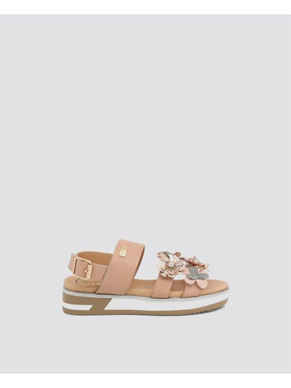 Brown Flower Patch Kids Sandals