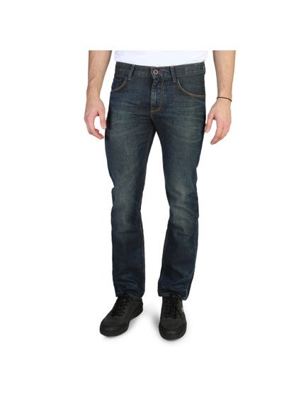 Denim Wash Pocket Zipper Jeans