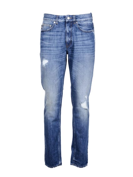 Denim Tapered Jeans