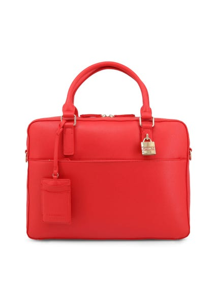 Red Double Handle Briefcase Bag