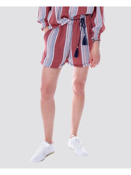 Contrast Stripe Elasticated Shorts