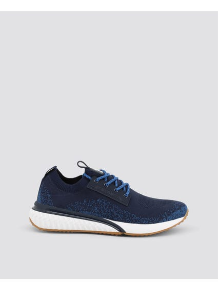 Blue Polka Straps Sneakers