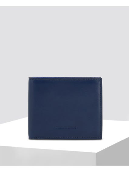 Blue Smooth Leather Wallet