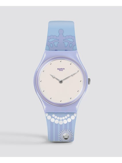 Purple Curtsy Silicone Watch