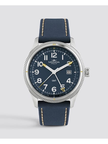 Blue Dial Quartz Analog Watch