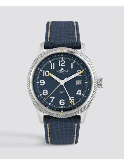 Blue Dial Quartz Analog Watch