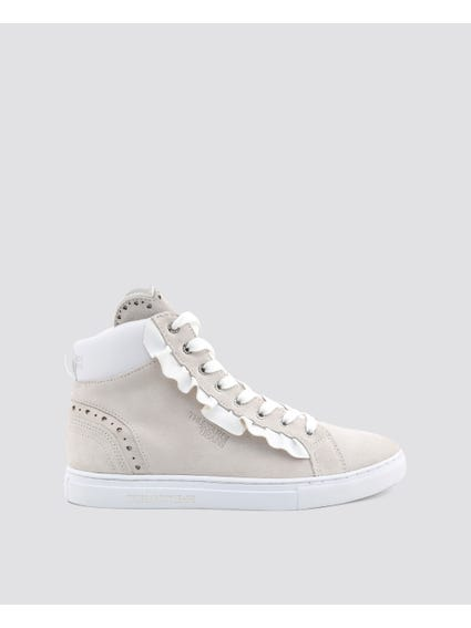 White Side Zip Sneakers