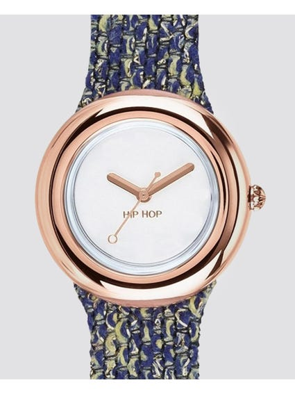 Rose Gold Bezel Analog Quartz Watch