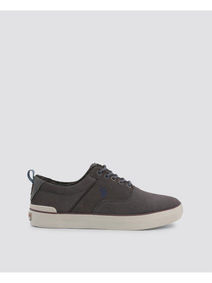 Grey Anson Leather Sneakers