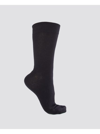 Black 5 Packs Crew Socks