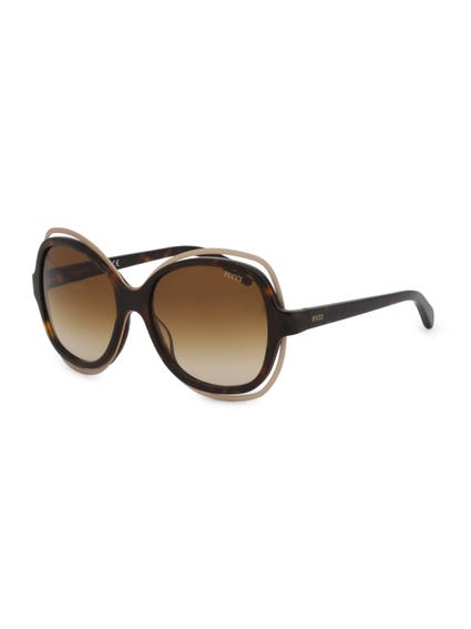Brown Double Frame Sunglasses
