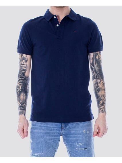 Blue Tri Button Polo Shirt
