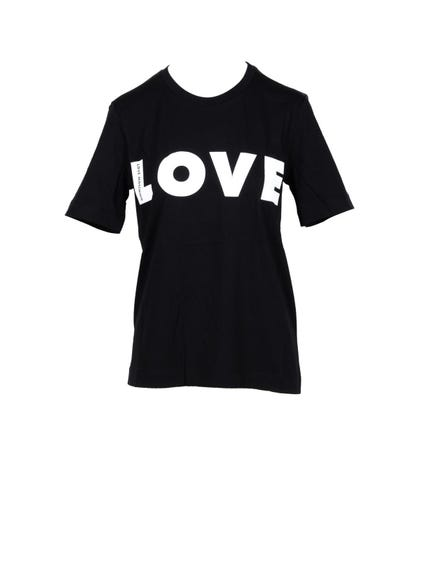 Black Crew Neck Love T-shirt