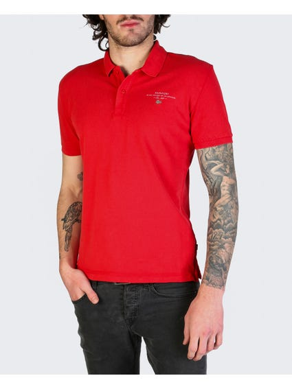 Red Elbas Short Sleeves Polo