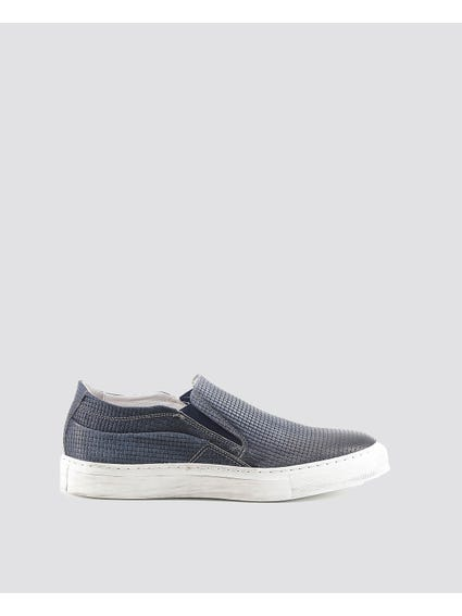 Blue Martino Braided Looks Slip Ons