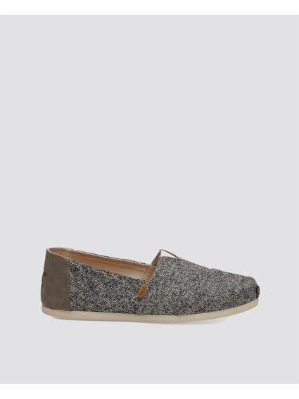 Grey Textured Slip Ons
