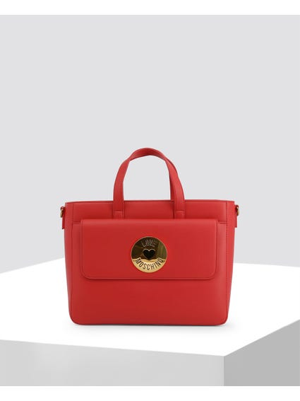 Red Front Flap Pocket Handbag