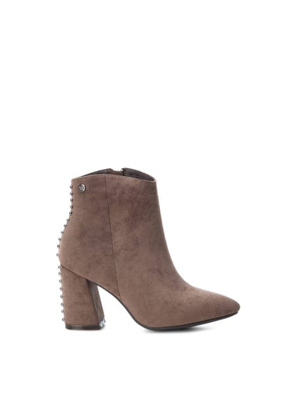 Suede Rhinestones Ankle Boots