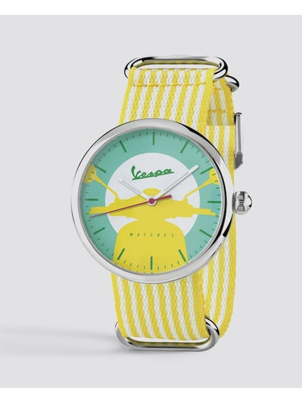 Yellow Stripe Irreverent Analog Watch