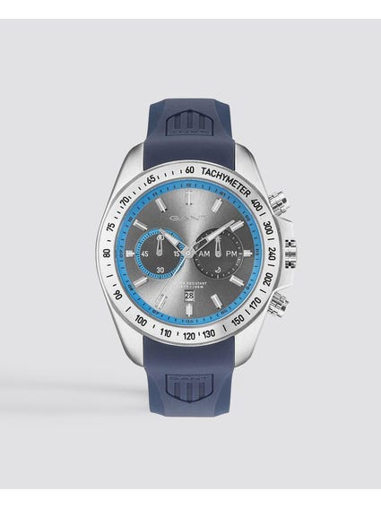 Blue Bedford Chronograph Silicone Watch