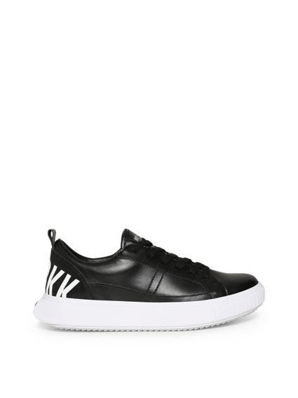 Leather Lace Up Logo Sneakers