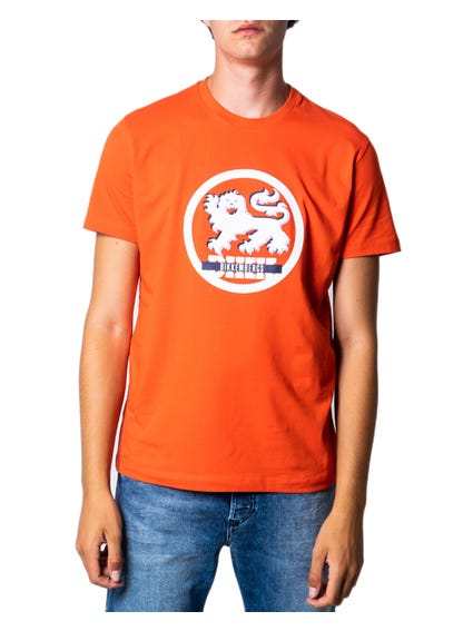 Orange Short Sleeve Graphic T-shirt