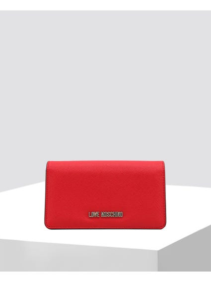 Red Snap Closure Wallet